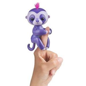 NIP WowWee Fingerlings Baby Sloth Marge Purple Int